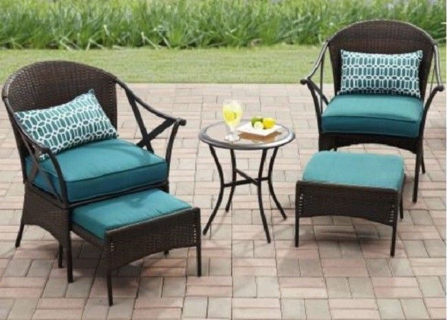 Outdoor Patio Set Bistro Dining Table Chaise Chairs Furniture