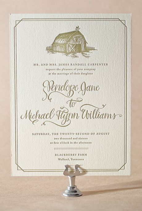 Fall Wedding Stationery: Pink And Cream Country Invitations | Brides.com