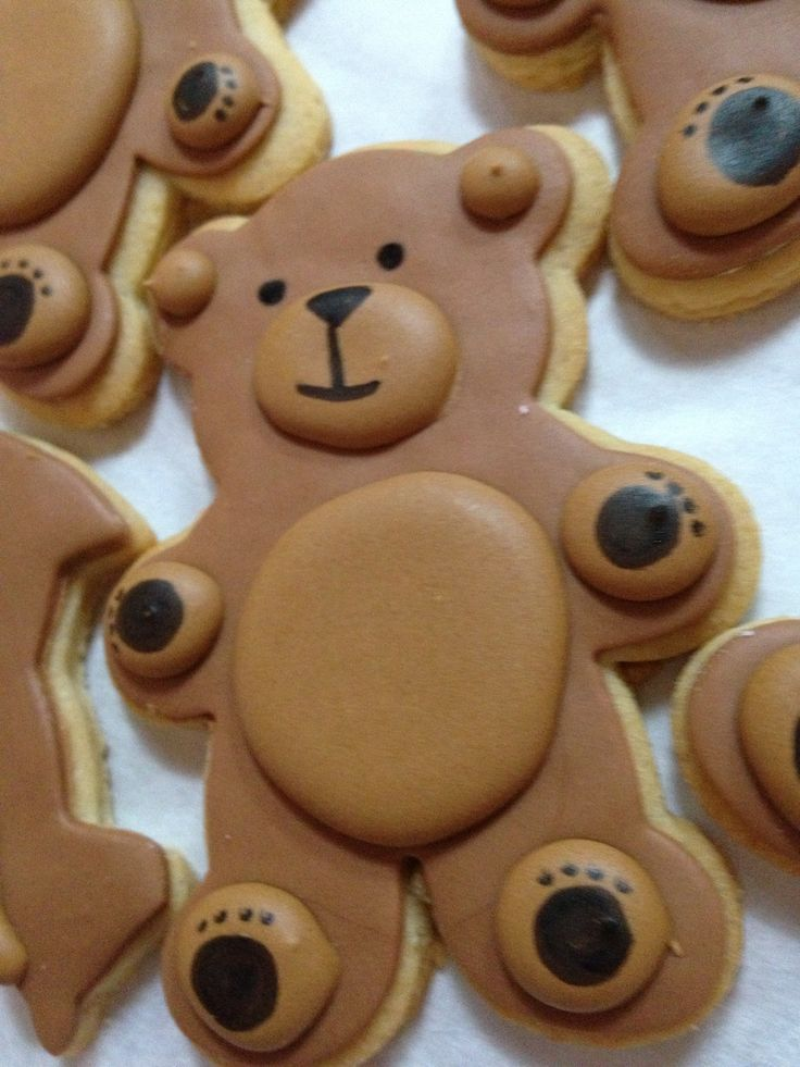 Teddy bear cookies Lolicakes Cakes.  $3.50/unit. Minimum of one dozen.