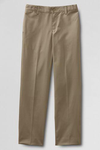School uniform plain front iron knee blend chino pants. Shop more uniforms styles at Lands' End
