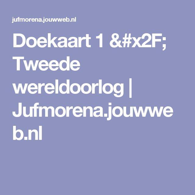 Doekaart 1 / Tweede wereldoorlog | Jufmorena.jouwweb.nl
