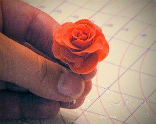 fondant rose tutorial petal layer 3 done by imtopsyturvy.com, via Flickr