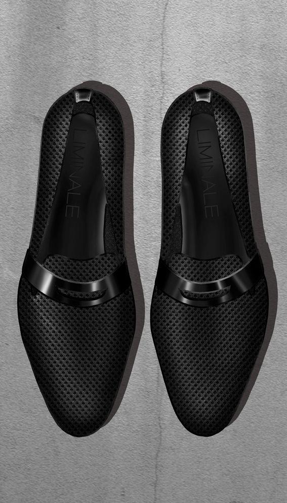 Airmesh and calfskin men's loafer Liminale Nowhere design