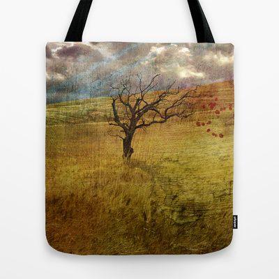 Don't go Tote Bag by Oscar Tello Muñoz - $22.00