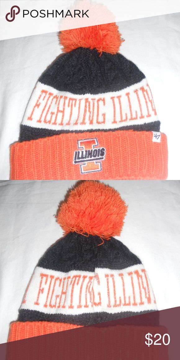 Illinois Fighting Illini Stocking Cap Hat by 47 Br Illinois Fighting Illini Stocking Cap Hat by 47 Brand. Hat is in really nice condition. 47 Brand Accessories Hats