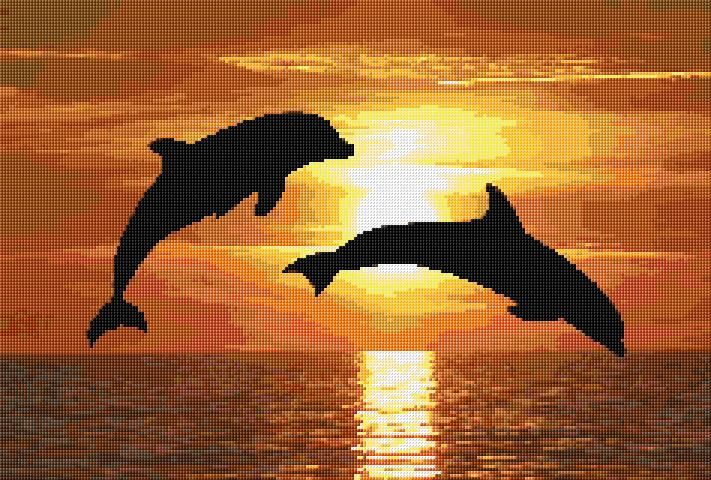 Cross Stitch | Dolphins xstitch Chart | Design