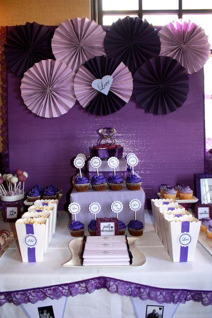 "Photo 1 of 30: Bridal/Wedding Shower ""Purple Bridal Shower"" | Catch My Party"