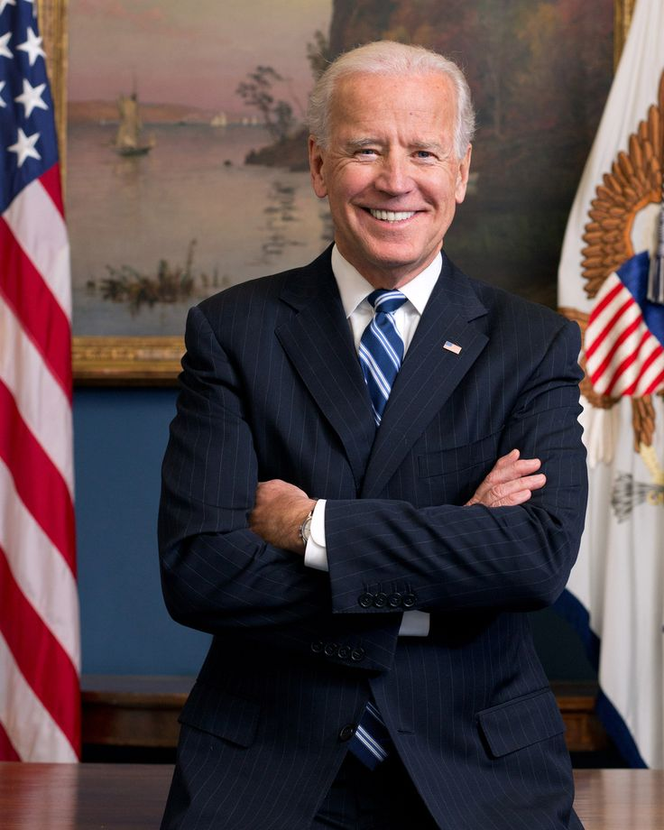 He's the most adorable man ever created! The new official portrait of Joe Biden
