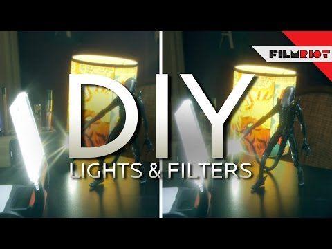 DIY Lights & Lens Filters - Using women's stockings and an engergizer light