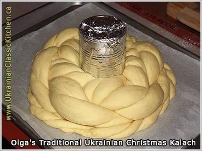 Traditional-Ukrainian Christmas Kalach - Rizdvyanyy Kolach (illustrated how to form it & photo)