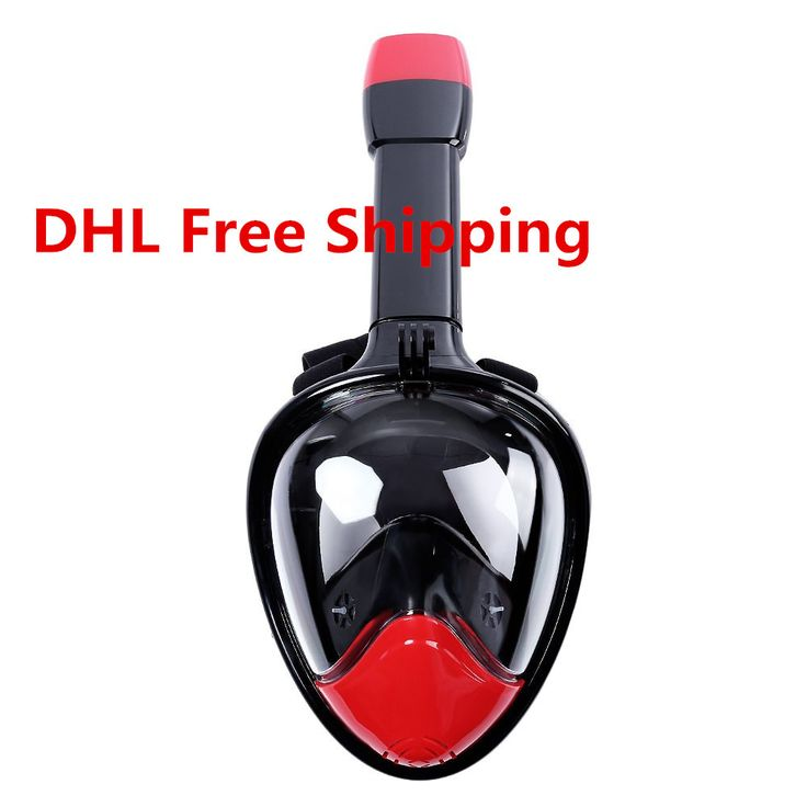 1pcs Newest Design Underwater Diving Swimming Gopro Camera Anti Fog Dry Snorkeling Full Face Mask Set Dry Snorkel Breath Smooth