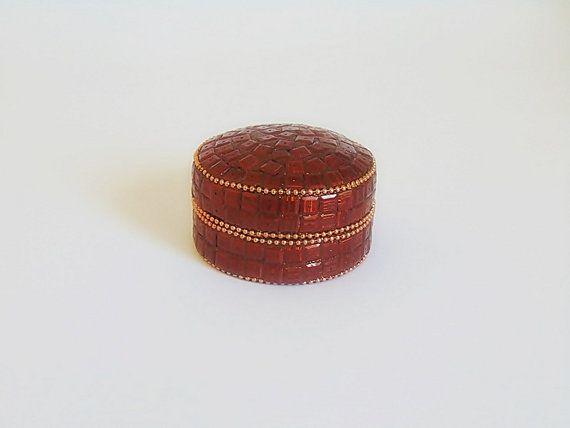 Mosaic jewelry box round jewelry box jewelry box by SARADECORA