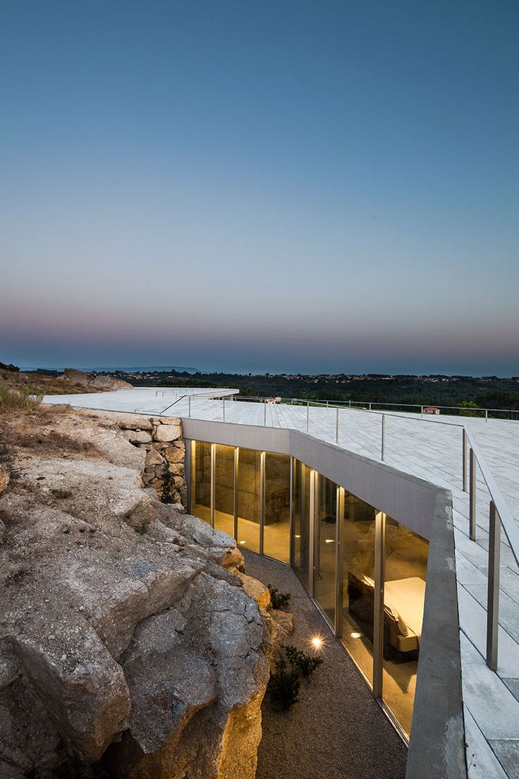 @  restaurant, guest house and wine showroom in Viseu, Portugal, by architecture studio Carvalho Araújo