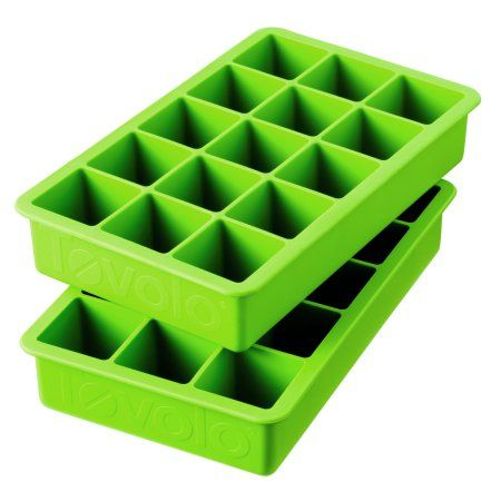 Tovolo Perfect Cube Silicone Ice Trays Set of 2, Spring Green - Walmart.com