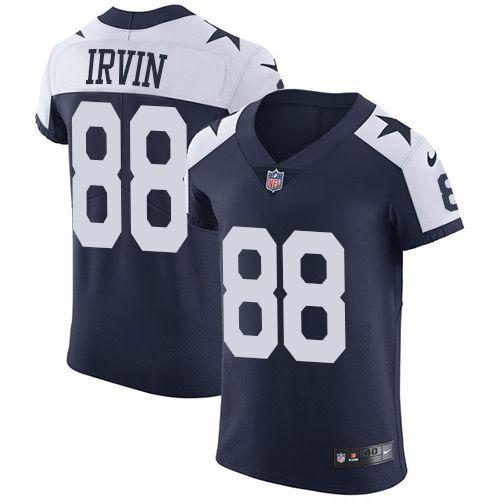 14d984857 Nike Cowboys  88 Michael Irvin Navy Blue Thanksgiving Men s Stitched NFL  Vapor Untouchable Throwback Elite Jersey