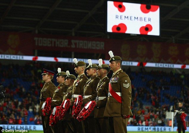 The display of poppies by soldiers ahead of the Wales game has also led to FIFA action