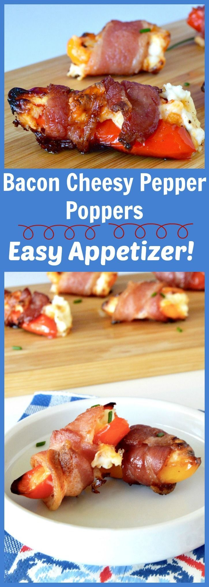 Bacon Cheese Pepper Poppers | Recipe | Pepper Poppers, Bacon and ...