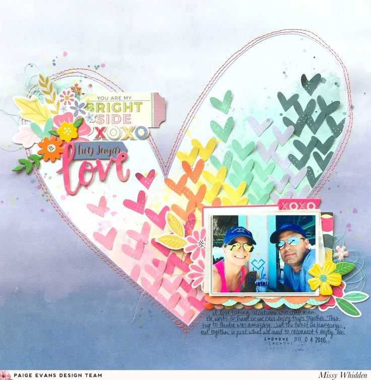 You Are My Bright Side layout by @missywhidden for @paigetaylorevans @pinkpaislee #scrapbooking