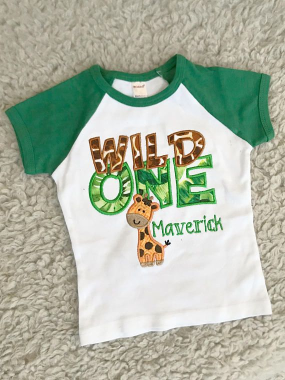 Jungle Theme Animal Theme First Birthday Bodysuit and Party Hat