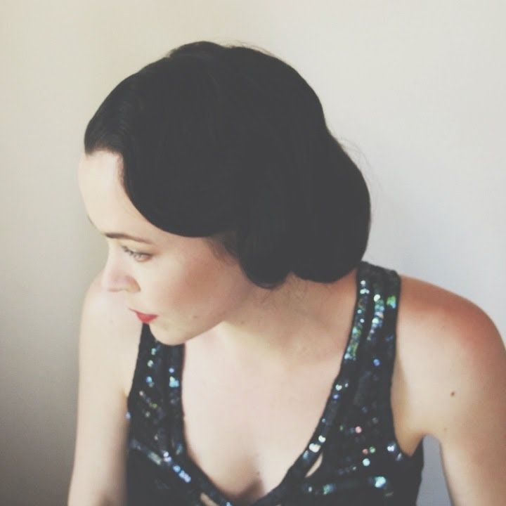 Vintage wave tutorial, vintage retro hairup, fingerwaves, gatsby