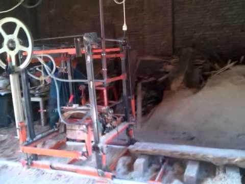 Úhlová naklápěcí pila vlastní výroby  (Sawmill)