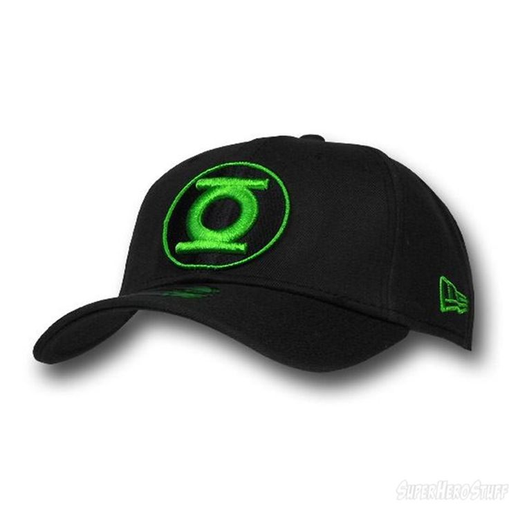 Green Lantern Black/Green Round Symbol 39Thirty Cap