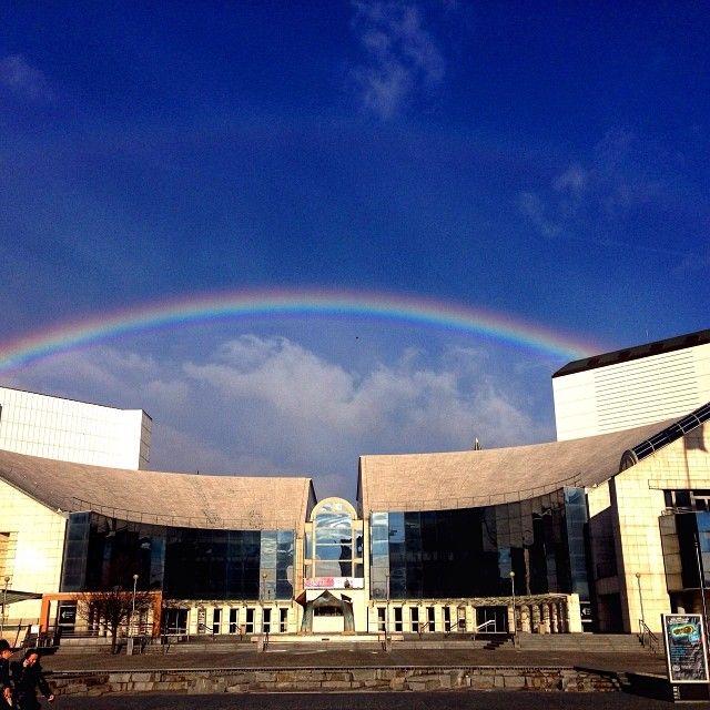 Rainbow over Bratislava theater #Bratislava #Slovakia