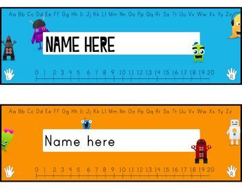 Desktags - Monsters vs Robots. Please enjoy these new desktags, suitable for students K-3. Using artwork from the brand-new award-winning* Monsters vs Robots number skills game.  Saved in .doc format so you can easily insert your students names into the textbox. :)  all the best, big idea learning.  * March, 2013 – awarded by wife as most distracting project for quality time with her.