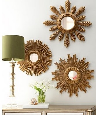 Twirling Clare: gold sun mirrors