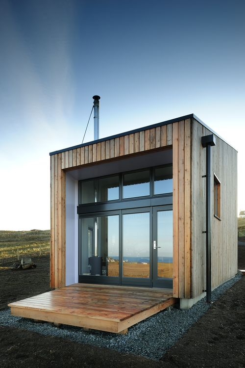 Modern Tiny Home: deck folds up like a drawbridge for security during un-occupied times?