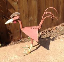 rusty bird yard art