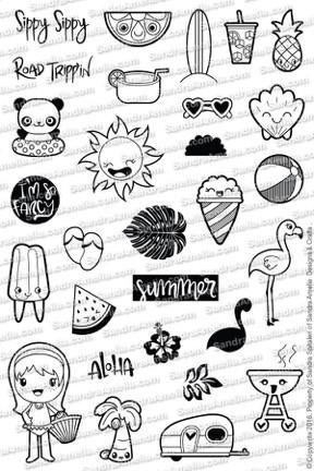High QualityPhoto Polymer StampSet for Planners. Made in the USA This Crazy AwesomeSummerThemedPlanner Stampset isgreat for your April-AugustPlanning. F