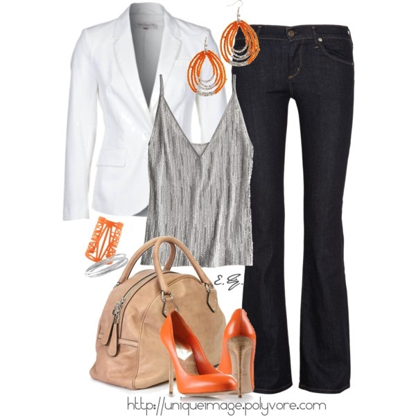 Orange Cork Spiked Heel PumpHeels Pump, Orange Heels, Fashion, Closets Black Grey Outfit, Style, Polyvore Outfit Ideas, Orange Corks, Chino Shorts, Corks Heels