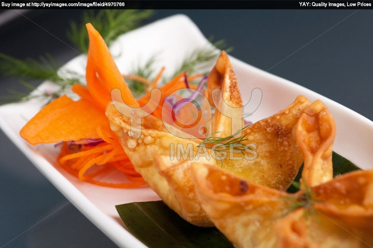 Cheese Appetizers | Royalty Free Image of Thai Crab Cream Cheese Wontons Appetizer