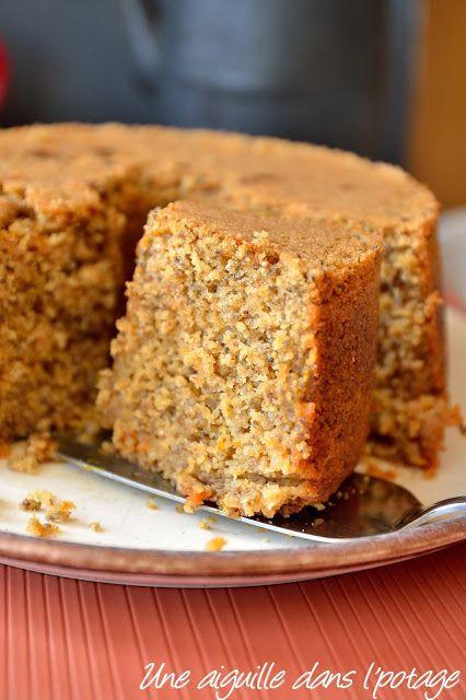 Gâteau moelleux à l'orange et aux graines de chia