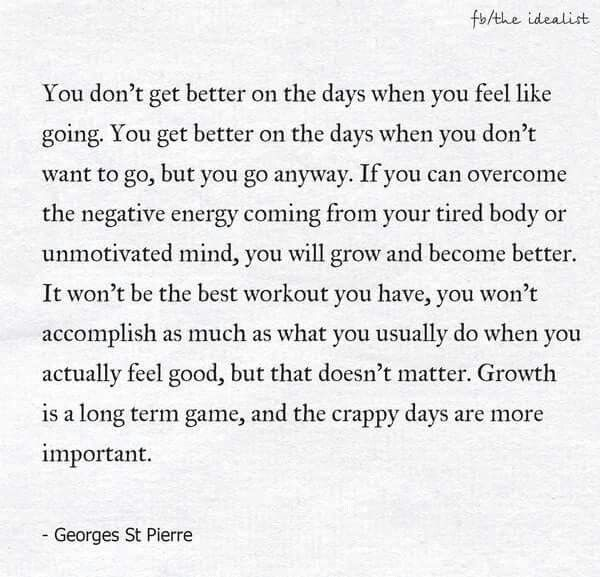 Crappy days r important too...