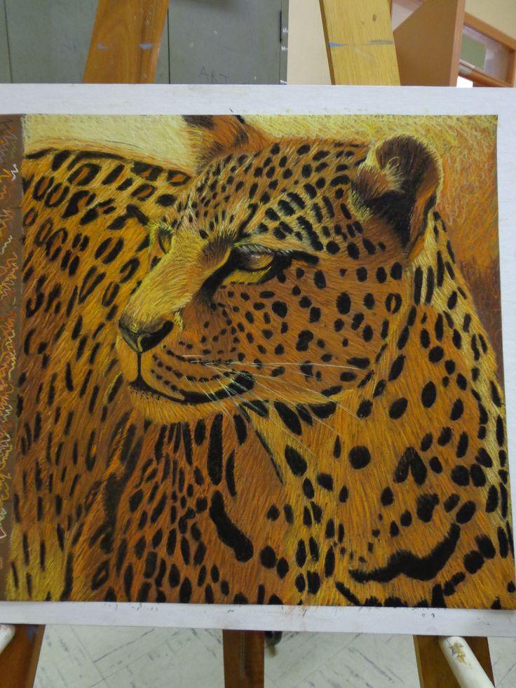 Leopard in Pastel