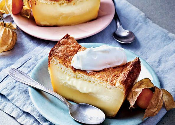 Showstoppers go simple, with the magic cake method. Three distinct, delicious layers with only one batter. Trust us, they work. More at homemadebyyou.co.uk