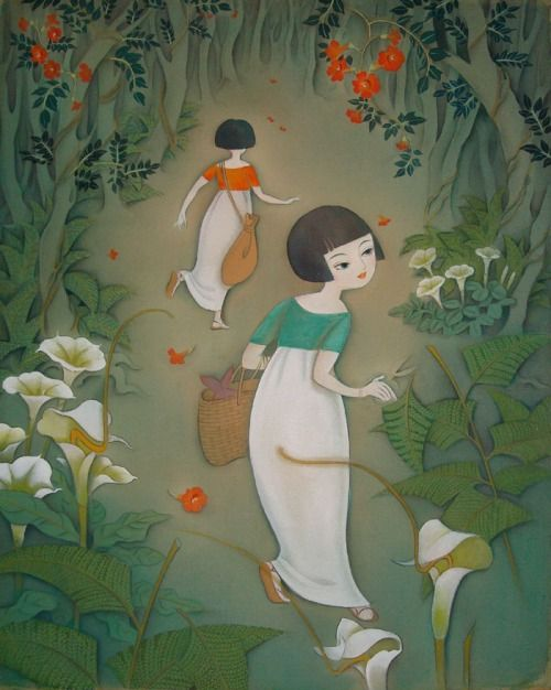 taishou-kun: Tsukuda Kisho 佃喜翔 Mori he 森へ (To the forest) - Grimm fantasy (from series / Little East) - 2012