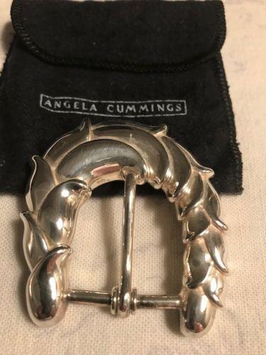 Very-Rare-Angela-Cummings-Vintage-Sterling-Silver-Belt-Buckle