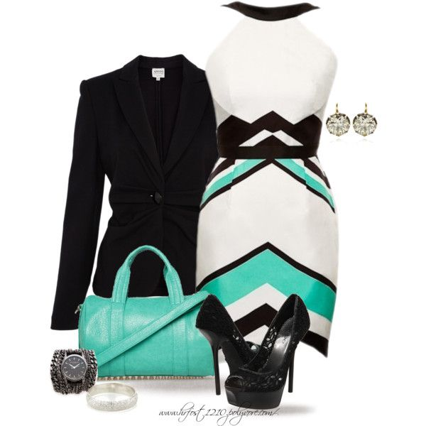 * Blazer & Dress Featuring NICOLA FINETTI *, created by hrfost1210 on Polyvore