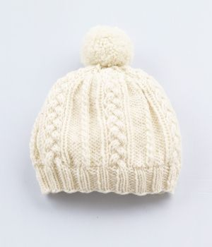 Cable Pattern Hat...I like this, simple, pretty & reminds me of a red hat I made years ago.