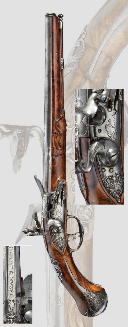 A long flintlock pistol, Pito Fiorentino, Brescia, Circa 1680..this one is truly beautiful in line and detail and materials.
