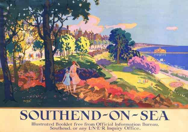 Southend-on-Sea vintage travel poster by LNER