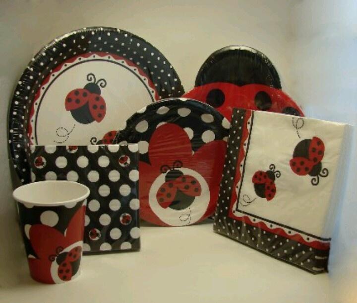 Ladybug Party Ideas for a Good Luck Ladybug Party! Wonderful Ladybug Party Decorations including Ladybug Plates Ladybug Napkins and Ladybug Cups. & 32 best Ladybugs images on Pinterest   Ladybug party Ladybugs and ...