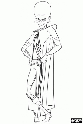 37 best coloring pages images on pinterest coloring for Megamind coloring pages