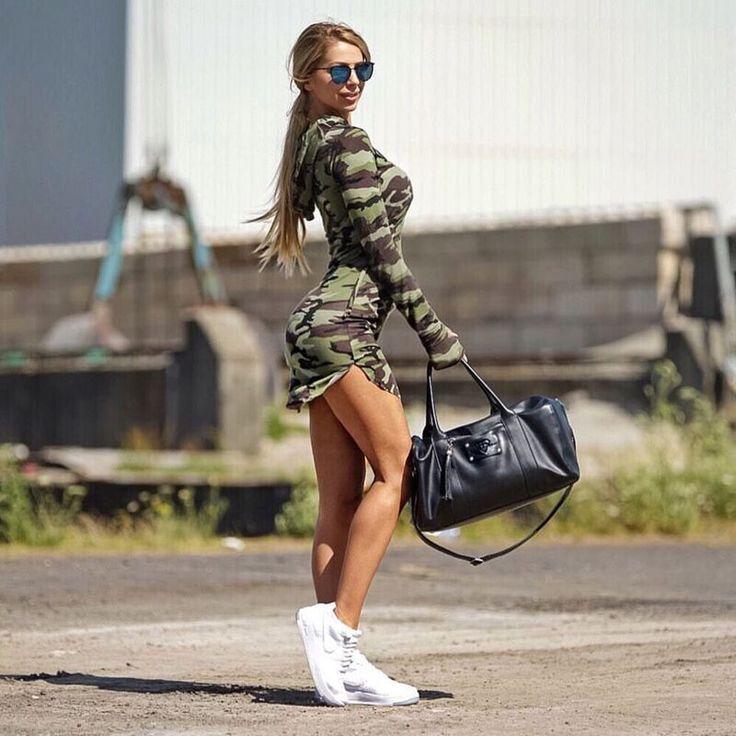 Gagaopt Women Camouflage Army Dress sexy sheath military dress long sleeve One-piece Slim dress bodycon vestidos femininos