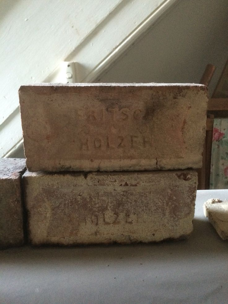 Old Fritsch Holzer bricks. Some of these bricks are well over 125 years old. The main brick was from the Builders Co. Brick company.
