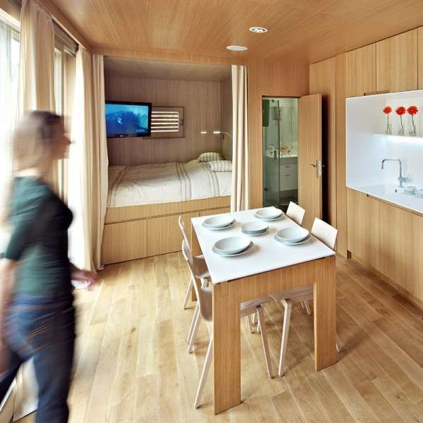 Repurposed Eco-Homes - The Studio H:T Shipping Container House is Compact (GALLERY)