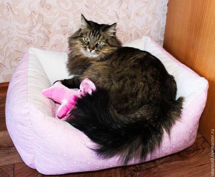"""Купить Лежанка для кошечки или собачки """"Розовый рай для Маргоши"""" - бледно-розовый, лежанка для собаки"""